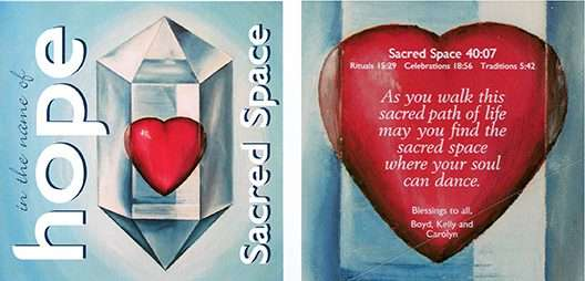 In the Name of Hope – Sacred Space